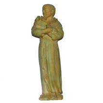 Garden Beautification Tool in Cast Stone Saint Francis Statue Weathered... - $169.20