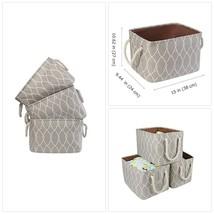 HOKEMP Large Foldable Storage Box - Cotton Linen Canvas Clothes Storage ... - $56.88