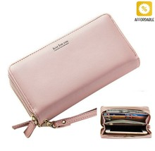 Wallets Women Double Zipper Wristband Long Clutch Large Capacity Holder ... - $24.70 CAD