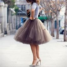Women Layered Tulle Pleated Ball Gown Skirts - $37.78