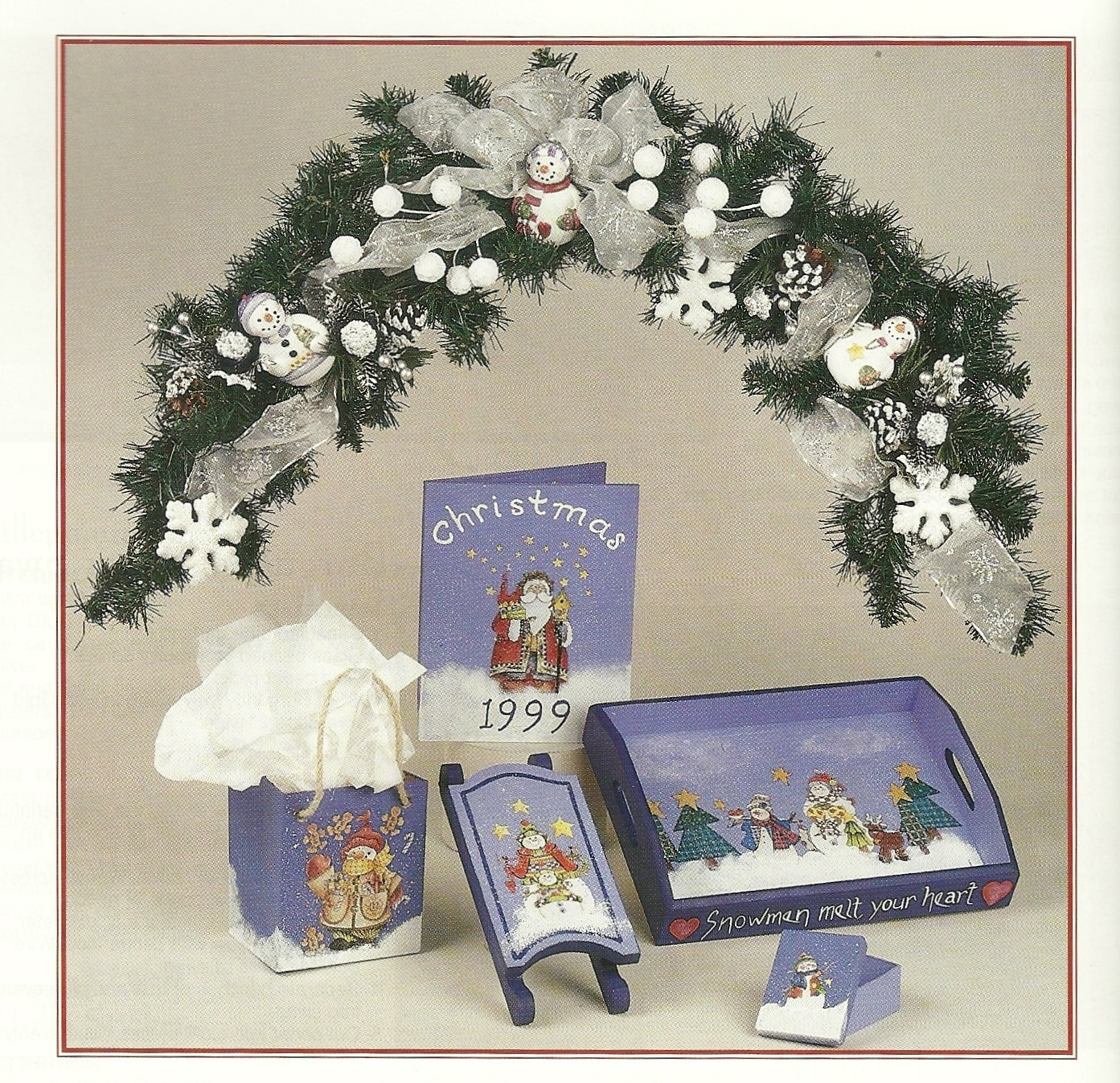 Christmas Collection X Craft Leaflet Book No. 8702 Lewiscraft