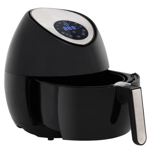 LCD Electric Air Fryer W/ 7 Cooking Presets, Temperature Control, Timer 1500W