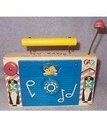 Vintage 1962 Fisher Price TV Radio Wind Up Music Toy Jack & Jill 148 - $12.95