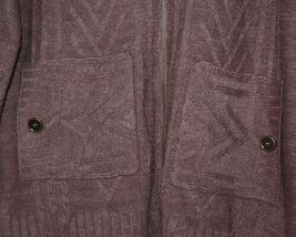 Simply Noelle Brand JCKT222SM Knitted Mauve Women's Zipper Jacket Size Small image 6
