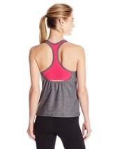 NEW Speedo Power Pulse Swim Gym Tankini Top size 10 Heather Grey Pink - $29.69