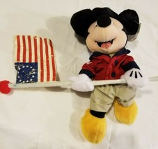 4th of July Mickey Mouse Fife and Drum Bean Bag Plush NWT NEW Disney Sto... - $16.65