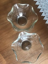 2 Vintage Ruffled Indiana Glass Bowls from the 1970s - $13.86