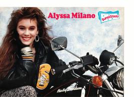 Alyssa Milano teen magazine pinup clipping Harley Davidson hottie