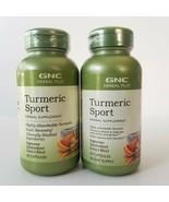 GNC Herbal Plus Turmeric Sport 60 Capsules Vegetarian Fuels Recovery Exp... - $33.85