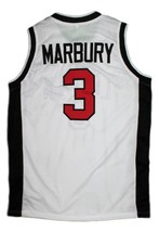 Stephon Marbury Lincoln High School Basketball Jersey Sewn White Any Size image 4
