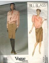 2527 Vintage Vogue Cartamodello Misses Giubbotto Gonna Banconote Blass 1... - $9.89