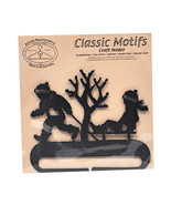 Classic Motifs Boy & Sled 4 Inch Charcoal Split Bottom Craft Holder with... - $12.74