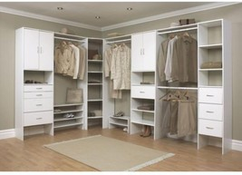ClosetMaid Selectives 16 in. 6 Shelves White Custom Storage Closet Organ... - $143.74