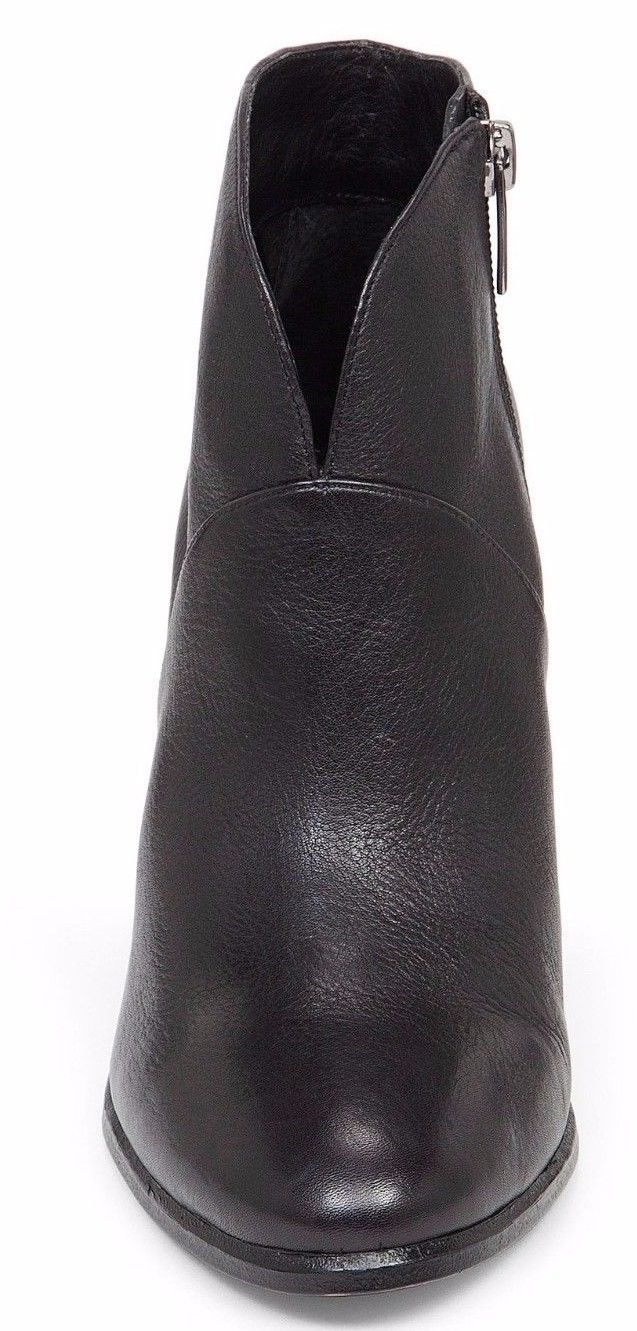 Women Vince Camuto Franell Leather Booties, Size 10 Black Leather VC-FRANELL