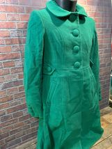 TOMMY HILFIGER Green Women's Winter Coat Size 4 Style H9457 Long Trench Full image 3