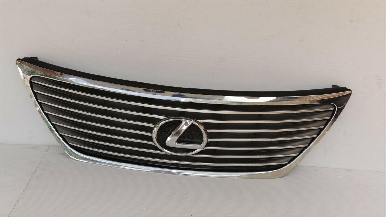 07-09 Lexus LS460 LS460L LS600H Upper Bumper Rad Chrome Grill Grille W/Emblem