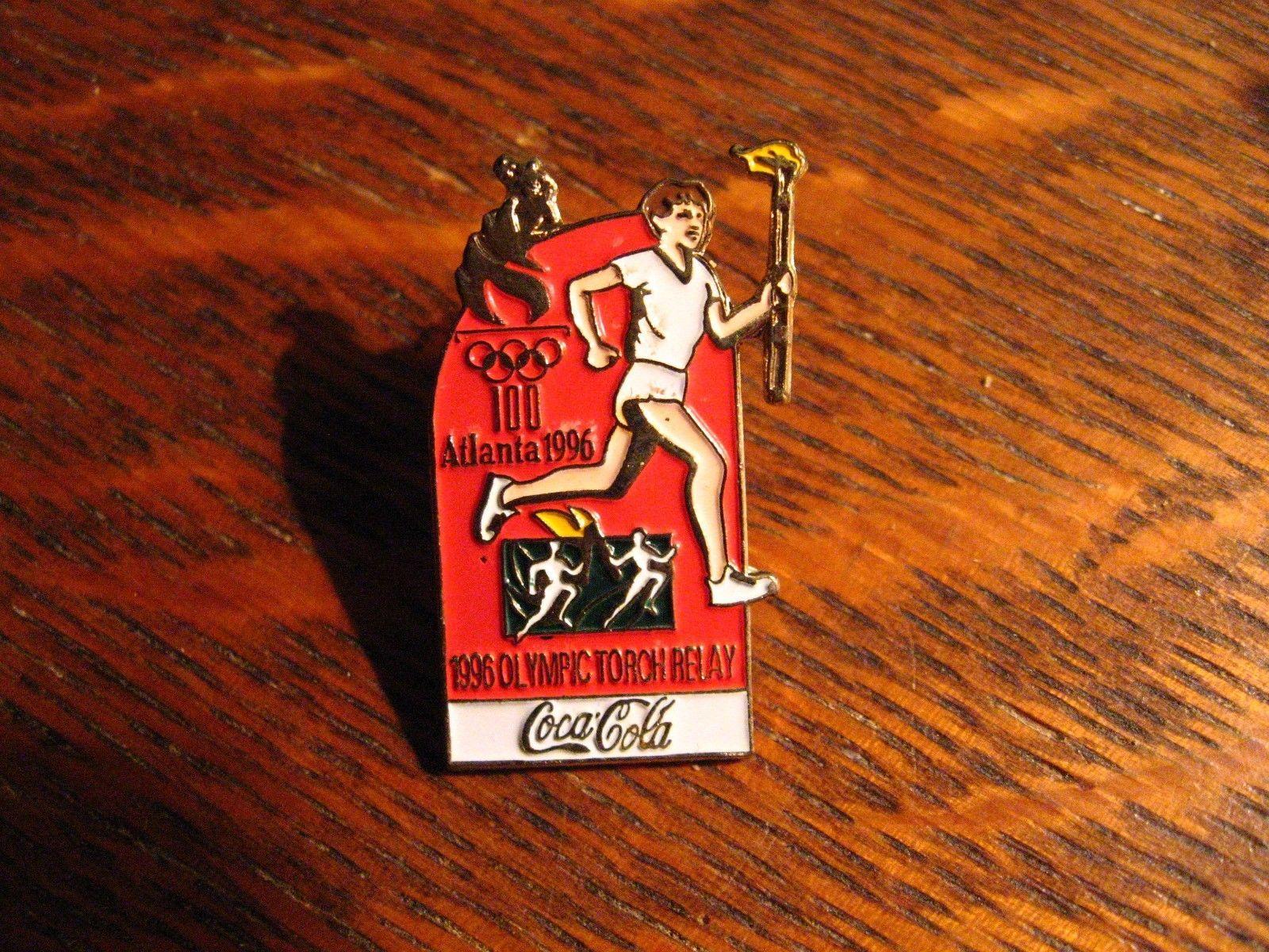 Coca Cola Atlanta Olimpiadas Pin de Solapa - Vintage 1996 Georgia EE.UU. Juegos