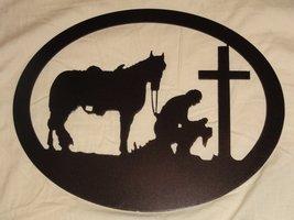 Cowboy and Cross Metal Wall Art- Copper Vein - $32.00+