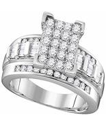 10k White Gold Diamond Cindy's Dream Cluster Bridal Wedding Engagement R... - $1,491.92
