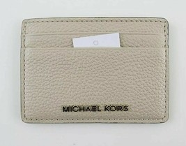 Michael Kors Money Pieces NWT $48 Oat Cream Safiano Grained Leather Card... - $31.68