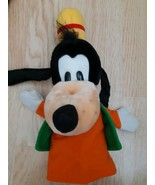 Vintage Disney Parks Goofy Hand Puppet Plush Stuffed Animal 80's 3D Head... - $12.43