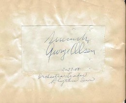 George Olsen & Billy Vine Dual Signed Vintage Album Page - $69.29