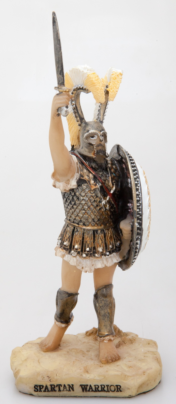 Ancient Greek Museum Statue Replica of Spartan Warrior Figurine Decor - $33.81