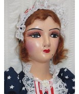 Vintage Holiday Large Standard Boudoir Bed Doll - Patriotic Veterans Day... - $160.88
