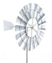 "70"" Oversized Silver Metal Windmill Design Wind Spinner - $178.19"