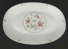 """Sango Montaigne 14"""" Oval Serving Platter Pink Flowers Gilded - £13.52 GBP"""