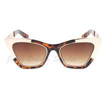 Retro Designer Sunglasses Trapezoid Cateye Runway Fashion Shades image 14