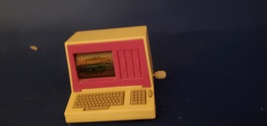 1989 Mattel Barbie Action Accents Barbie Doll Wind Up Computer Works - $12.00