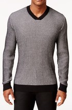 NEW MENS ALFANI REGULAR FIT V NECK WAFFLE KNIT COTTON PULLOVER SWEATER $70 - £14.07 GBP
