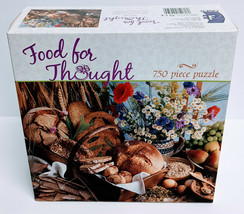 Ceaco Food for Thought 750 Piece Jigsaw Puzzle 24 x 18 inches finished - $14.95