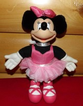 """Disney Minnie Mouse Plush & Vinyl 10"""" Standing Fancy Pink Ballerina by A... - $12.89"""