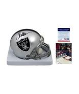 Marcus Allen SIGNED Oakland Raiders Mini Helmet - PSA/DNA Autographed w PHOTO - $117.81