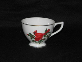 Lefton China Hand Painted CARDINAL Tea Cup Gold Rim - $14.83