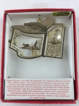 Nations Treasures Ocean Journey Colorado 24K Brass Metal Ornament Souvenir - $15.00