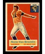 VINTAGE NFL 1956 Topps #6 Norm Van Brocklin  EX+  - $24.08