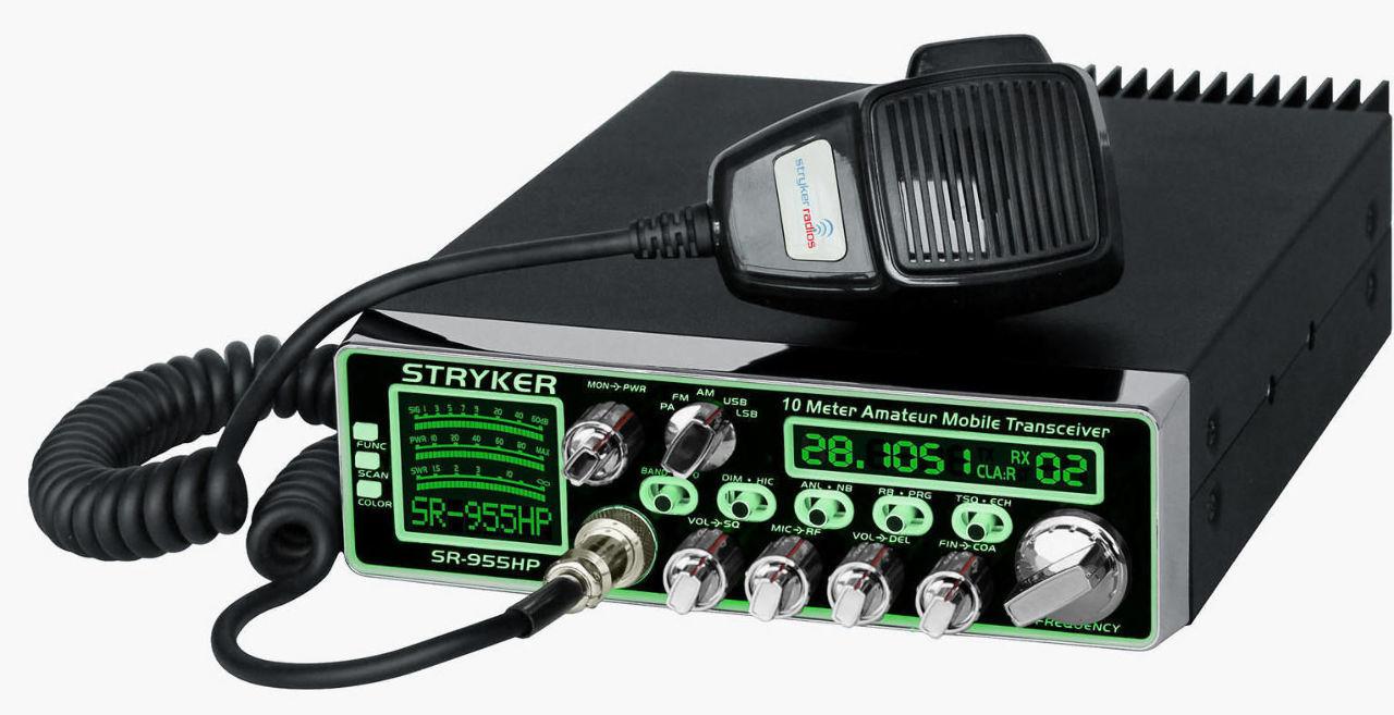 Stryker sr 955hpc 10 meter amateur ham mobile radio am fm ssb 7 color 80 watts