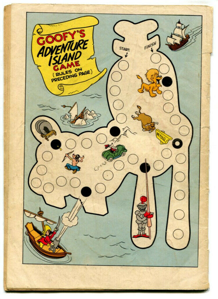 Walt Disney The Goofy Adventure Story 857 FR 1.0 Dell 1957 Four Color Strobl