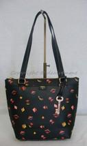 NWT! Fossil Gift Small Black / Multi-Color Print Shopper Bag #ZB6701016 - $89.00