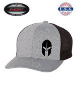 SPARTAN FLEXFIT - MELANGE TRUCKER CAP WITH MESH BACK  *FREE SHIPPING in BOX - $19.99