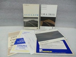 PLYMOUTH ACCLAIM   1991 Owners Manual 16648 - $13.81