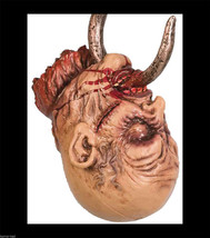Life Size Severed Bloody HOOKED ZOMBIE HEAD Horror Prop Haunted House De... - $34.62