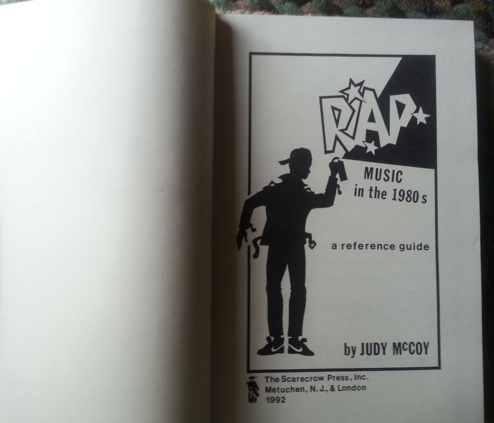 RAP Music of the 1980s by Judy McCoy 1992 HB Reference Guide