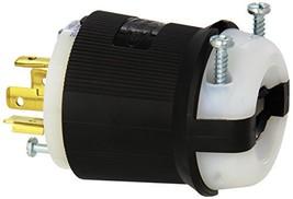 Hubbell HBL2421 Locking Plug, 20 amp, 3 Phase, 250V, L15-20P, Black and White