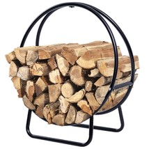 Log Rack Firewood Storage Holder Fireplace Metal Style Heavy Duty Indoor... - $49.97