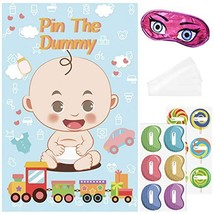 LUOEM Baby Poster Baby Shower Games Pin The Dummy Game Reusable Baby Sho... - $8.06