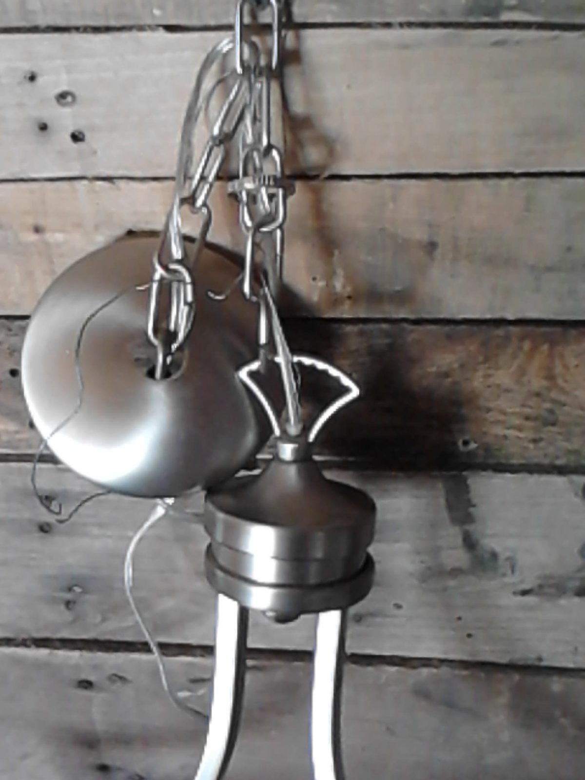 1 Light Pendant Chandelier By Kichler Lighting E14042 34026 Nickel Finished